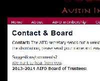 AIFD Contact and Board page