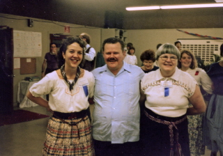 Barbara with Vernon and Lola Lucke from Texas Camp many years ago