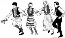 Four Balkan Dancers