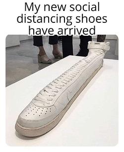 Social distancins sneakers